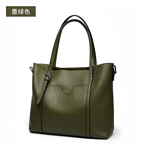 GUANGMING77 Borsa Tracolla,Grigio Blackish green