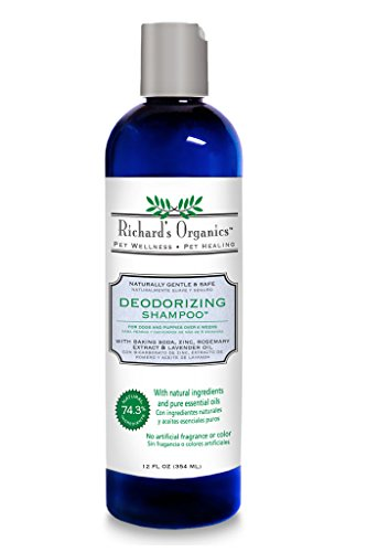 SynergyLabs Richard's Organics Deodorizing Shampoo with Baking Soda, Zinc, Rosemary Extract and Lavender Oil; 12 fl. oz.