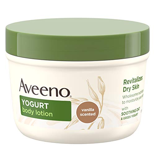 Aveeno Daily Moisturizing Yogurt Body Lotion for Dry Skin with Vanilla Scent & Soothing Oat, 7 oz