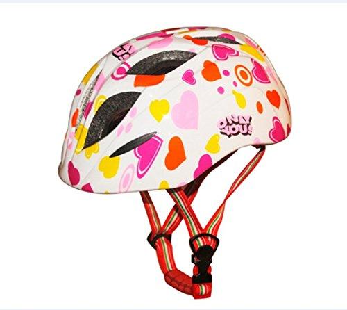 Kids/Toddlers Bike Helmet Colorful Skateboarding Helmet Ice Skating Safety Helmet (White)