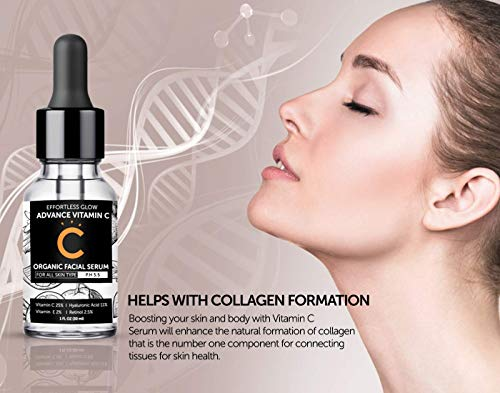 41Asxb2HilL - Vitamin C Serum for Face | With Hyaluronic Acid, Retinol, & Vitamin E | Natural Anti Aging & Wrinkle Facial Serum, Best Vitamin C Serum for your Skin (PH 5.5 for all skin types)