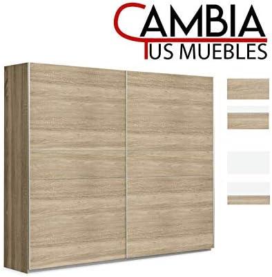 CAMBIA TUS MUEBLES - Armario Puerta corredera Winter, Armario ropero de 120 X 200 cm Armario Dormitorio, Color Roble: Amazon.es: Hogar
