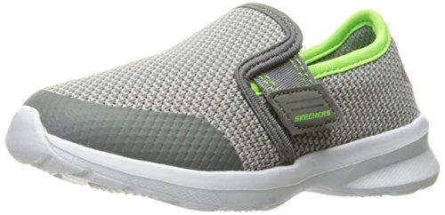 Skechers Kids Kids Stepz-Power Stride Slip-On Charcoal/Lime