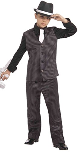 1920 Gangsters Costumes (Forum Novelties 20's Lil' Gangster Child Costume, Large)