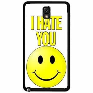 I Hate You With a Smiley Face- TPU RUBBER SILICONE Phone Case Back Cover Samsung Galaxy Note III 3 N9002