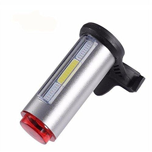 FidgetFidget Bicycle Bike Light Colors LED Rechargeable Safety USB Cycling Rear Tail grey by FidgetFidget