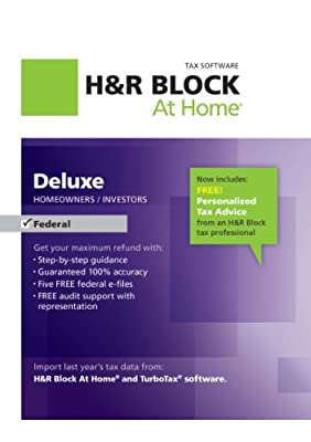 H&R Block At Home Deluxe 2012