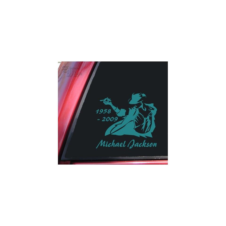 Michael Jackson 1958   2009 Vinyl Decal Sticker   Teal