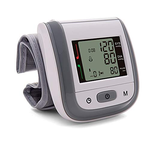 Wrist Blood Pressure Monitor, XNUO Digital Blood Pressure Cuff for Home Use, Fully Automatic Blood Pressure Machine, BP Monitor, Clinically Accurate, 2 * 99 Memories, Fast Reading, Large LCD Display