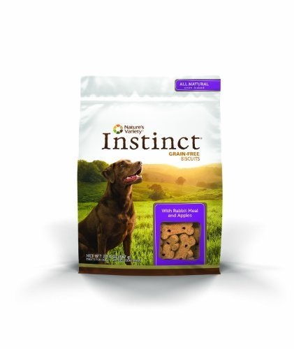 Nature's Variety Instinct Grain-Free Biscuits with Rabbit Meal & Apples Dog Treats, 20 oz. Bag by Nature's Variety
