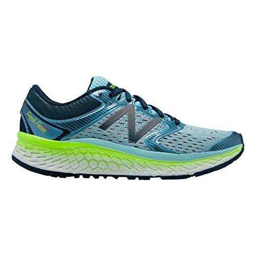 New Balance Women's Fresh Foam 1080v7 Running Shoe, Ozone Blue Glow/Lime Glow, 9.5 B US