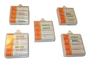 20 Pilas vhbw AA Mignon HR6 LR6 2500mAh para Nikon Coolpix L1, L10, L11, L12, L14, L15, L16, L18, L19, L24, L25, L26, L27, L28, L29, L30, L100
