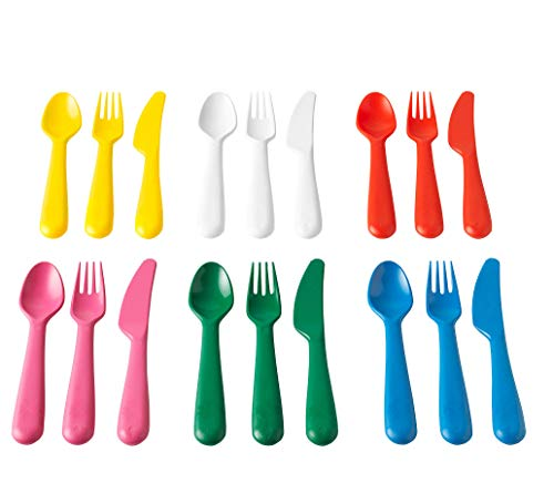 Ikea Kalas 804.213.32 12-Piece BPA-Free Flatware Set, Multicolored,1 Pack
