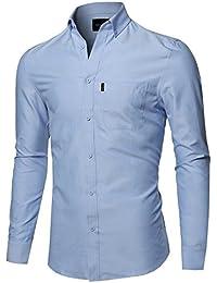 Men's Basic Button-Collar Chambray Shirt