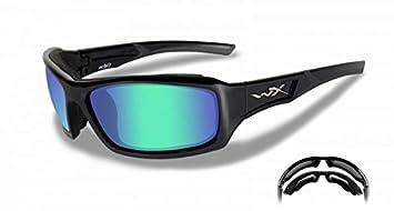 Wiley X – Gafas de sol WX Echo, color negro brillante, M-L, CCECH04