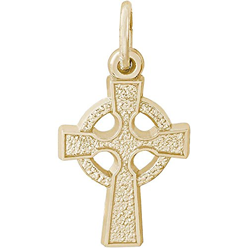 Rembrandt Charms Celtic Cross Charm, Gold Plated Silver