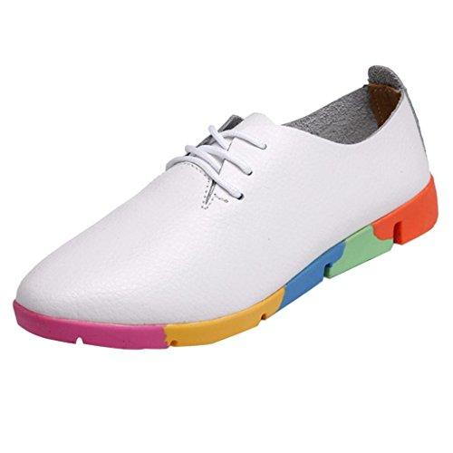 de de Cordones Planos de Cuero Ocio Puntiagudos Zapatos Zapatos Las Mujer para D Zapatillas Zapatos Mujeres Zapatos con Sandalias CIqZw