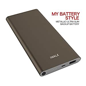 iWALK Quick Charge Power Bank 10000mAh, Compatible with QC2.0, Cell Phone Portable Battery Charger for iPhone 7 Plus 6S 6 Plus iPad,Samsung Galaxy S7 S6 S5,Grey