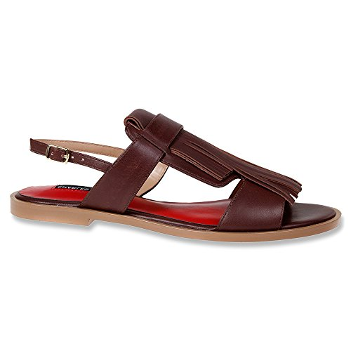 Charles Jourdan Women's Ocean Brown 6 (Jourdan Leather Sandals)