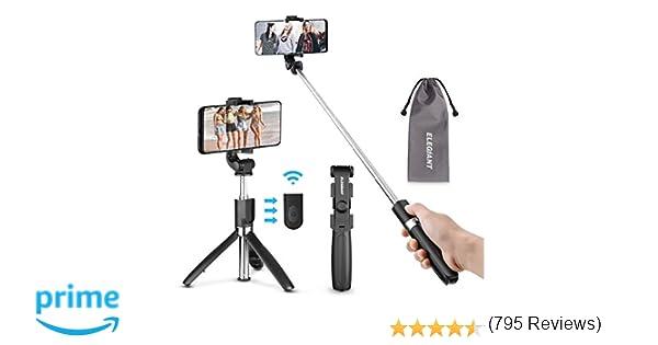 ELEGIANT Palo Selfie Trípode Bluetooth Mini Stick Movil Deportivo Extensible de Control Remoto para Viaje Autofoto 3 en 1 Monopie con Obturador ...