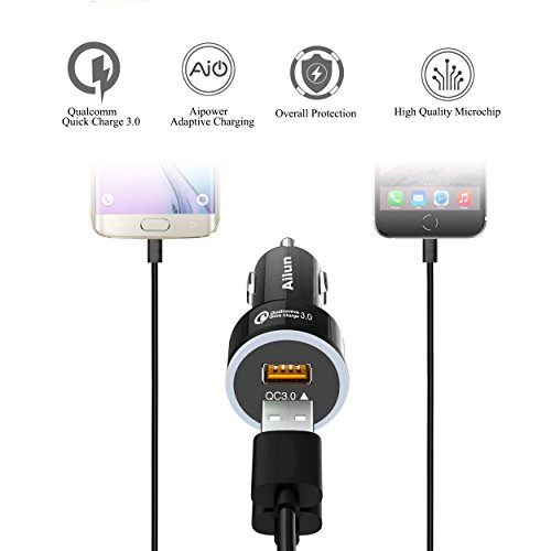 Fast-Car-Charger-Quick-Charge-30-AdapterDual-USB-Port-35Wfor-Mobile-DeviceiPhone-X-8-8-Plus-7-7-Plus6-6s6s-PlusSE-5sSamsung-Galaxy-S8-S8-S7S6Note-5-4-3Nexus-7-6-HTC-MotorolaBlack