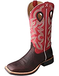 Twisted X Mens Ruff Stock Boot Oiled Cognac/Red