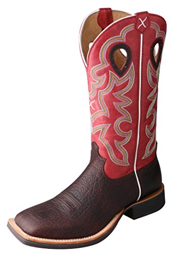 Ruff Stock - Twisted X Men's Ruff Stock Boot Oiled Cognac/Red