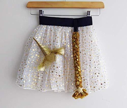 Gold Unicorn Costume - Size 6-8