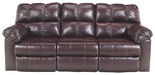 Signature Design by Ashley 2900088 Reclining Sofa, Burgundy