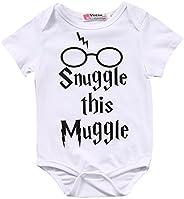 Baby Boys Girls Snuggle this Muggle Short Sleeve Bodysuit