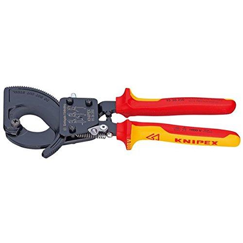 KNIPEX(クニペックス)9536-250 絶縁ケーブルカッター 1000V(ラチェット式 スポーツ レジャー DIY 工具 カッター top1-ds-1849414-ah [簡素パッケージ品] B071CDNKST