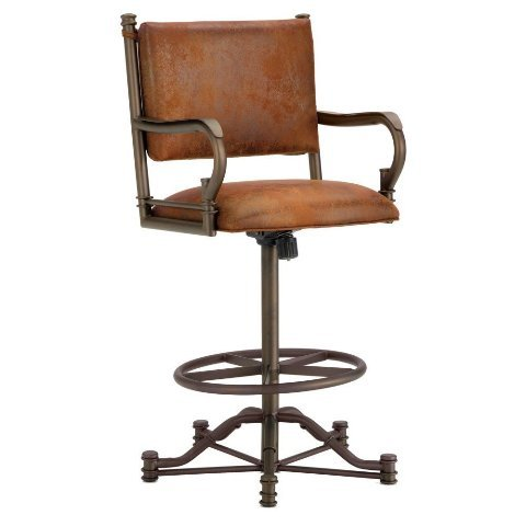 Iron Mountain Baltimore Tilt Swivel Counter Stool, Inca/Bronze
