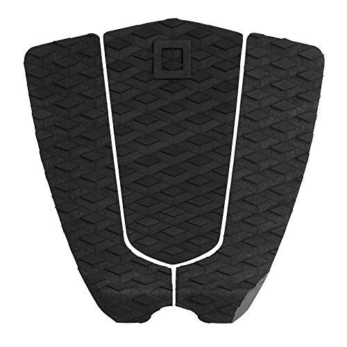 Pad Traction Black (Surf Squared Surfboard Traction Pad | 3-Piece Diamond Grip Stomp Pad for Shortboard or Skim Board - Carve Harder Surf Faster, 3 Piece Flat Pad)