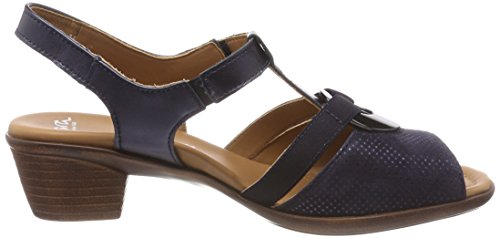 Lugano Sandals Blue Women's ara Blue T Bar ZPnTwWq5