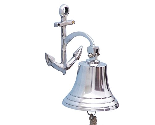Anchor Chrome Bell 6'' - Nautical Chrome Bell - Decorative Chrome Bell - Decorat by Handcrafted Model Ships