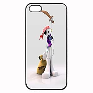 Mp3 pirate pattern Image 4 Case Cover Hard Plastic Case tive Iphone 4s / Iphone for Iphone 6 4.7protec