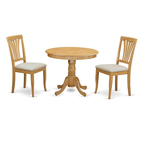 3 Piece Kitchen Dinette (East West Furniture ANAV3-OAK-C 3 Piece Kitchen Dinette Table and 2 Chairs Set)