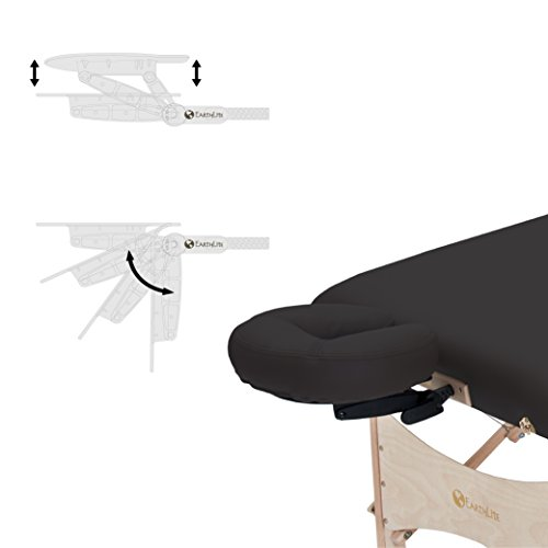 EARTHLITE Harmony DX Portable Massage Table Package – Eco-Friendly Design, Deluxe Adjustable Headrest, Hard Maple, Aircraft Quality, up to 600 lbs by Earthlite (Image #3)