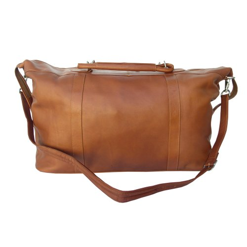 Piel Leather Large Carry-On Satchel, Saddle, One Size ()