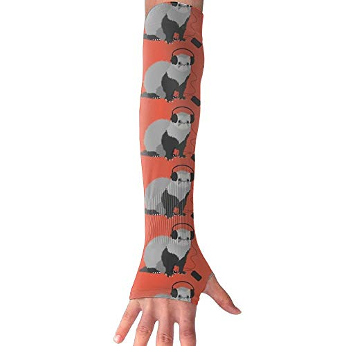 QG ZZX Funny Musical Ferret Unisex Compression Arm Sleeves UV Protection Performance Arm Sleeve - for Outdoor Sports Baseball,Basketball,Football (1 Pair)