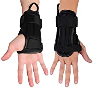 CTHOPER Impact Wrist Guard Fitted Wrist Brace Wrist Support for Snowboarding, Skating, Motocross, Street Racin