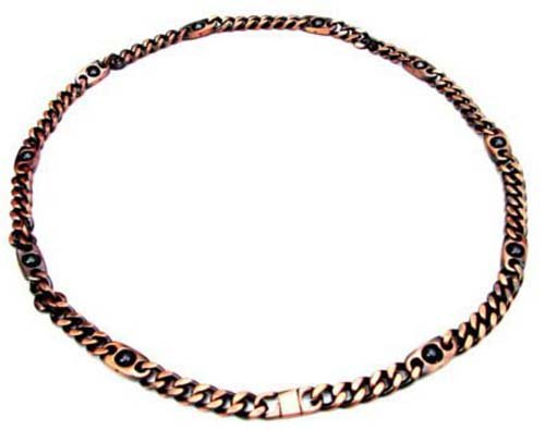 MJ New Magnetic Bio Therapy Copper Chain Dog Collar Maximum Length 46cms