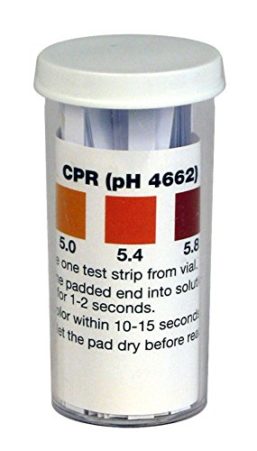 Acid Papers 100 pH Test Strips 4.6 to 6.2 Range For Beer with Comparison Chart
