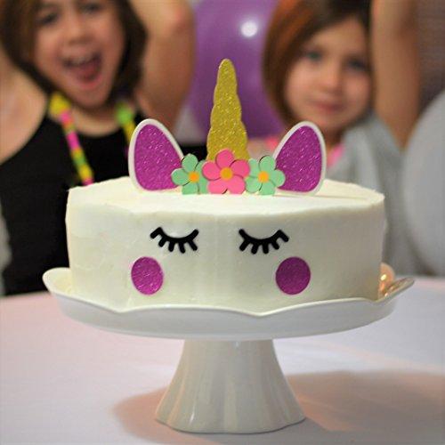 Amazon Premium Sparkle Unicorn Cake Topper Decorating Set Perfect For DIY Girls Themed Birthday Decorative