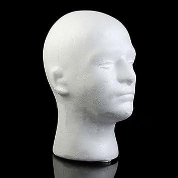 Male Styrofoam Foam Mannequin Manikin Head Model Wig Glasses Hat Display Stand Amazon Co Uk Beauty