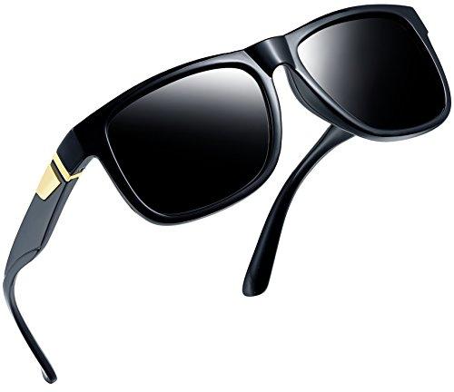 Joopin Unisex Polarized Sunglasses Classic Men Retro UV400 Sun glasses (Glossy Black ()