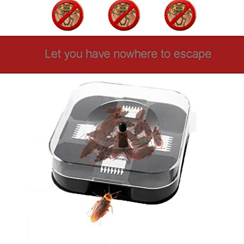 Quaanti 2018 New Automatic Cockroach House Insects Bugs Capture Bait Trap Killer Catcher Box (White)