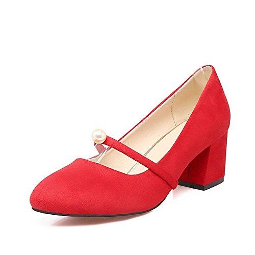 L'Emploi Vert Automne Fleece Femmes Rouge Comfort Printemps Pour L'Extérieur Heels Chaussures L'Armée Pearl de Rose Gris Carré et red Bureau Pour Talon DIMAOL de wx1tXqEZWE