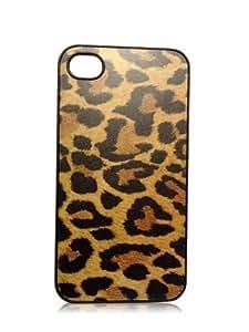 Cheetah Leopard Animal Print iPhone 4/4s Slim Hard Plastic Snap on Case Black