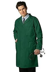 """Adar Uniforms Adar Universal Mens 39"""" Labcoat With Inner Pockets - 803 - Hunter Green - 34"""